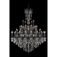 Fleur Illumination Collection Chandelier D:54in H:66in Lt:45 Dark Bronze Finish (Elegant Cut Crystals)