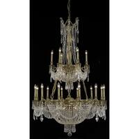 Fleur Illumination Collection Chandelier D:41in H:63in Lt:27 French Gold Finish (Elegant Cut Crystals)