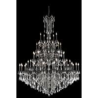 Fleur Illumination Collection Chandelier D:64in H:84in Lt:55 Dark Bronze Finish (Elegant Cut Crystals)
