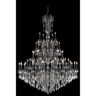 Fleur Illumination Collection 55-light Dark Bronze Finish Chandelier with Elegant-cut Crystals