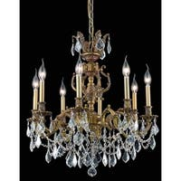 Fleur Illumination Collection Chandelier D:24in H:26in Lt:8 French Gold Finish (Elegant Cut Crystals)