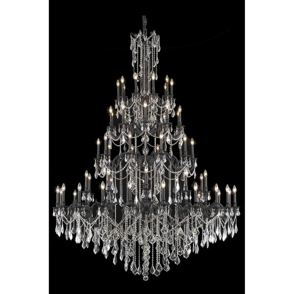 Fleur Illumination Collection Chandelier D:72in H:96in Lt:60 Dark Bronze Finish (Elegant Cut Crystals)