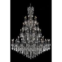Fleur Illumination Collection Chandelier D:72in H:96in Lt:60 Dark Bronze Finish (Elegant Cut Crystals)