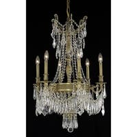 Fleur Illumination Collection Chandelier D:22in H:34in Lt:9 French Gold Finish (Elegant Cut Crystals)