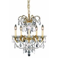 Fleur Illumination Collection Pendant D:18in H:19in Lt:5 French Gold Finish (Elegant Cut Crystals)