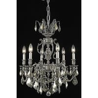 Fleur Illumination Collection Chandelier D:20in H:23in Lt:6 Pewter Finish (Royal Cut Crystals)