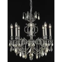 Fleur Illumination Collection Chandelier D:24in H:26in Lt:8 Pewter Finish (Royal Cut Crystals)