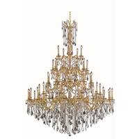 Fleur Illumination Collection Chandelier D:64in H:84in Lt:55 French Gold Finish (Elegant Cut Crystals)