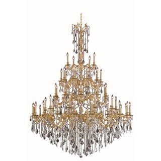 Fleur Illumination Collection French Gold Finish Chandelier with Elegant-cut Crystals