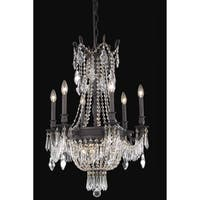Fleur Illumination Collection Chandelier D:22in H:34in Lt:9 Dark Bronze Finish (Elegant Cut Crystals)