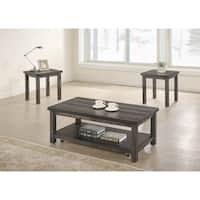 Best Master Furniture Transitional 3 Pcs Coffee Set