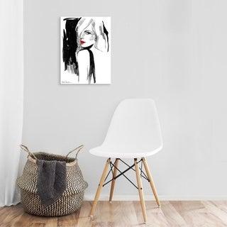 Easy Art Prints Aasha Ramdeen's 'Over the Shoulder' Premium Canvas Art