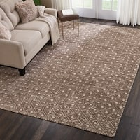 Nourison Modern Deco Hand Tufted Taupe Area Rug - 9'6 X  13'