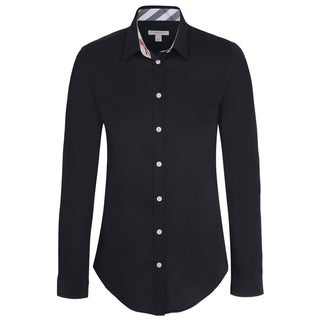 Women's Burberry Black Dress Shirt