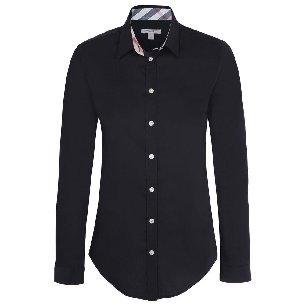 Womens Burberry Black Dress Shirt