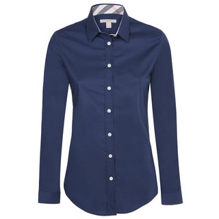 Women's Burberry Navy Dress Shirt
