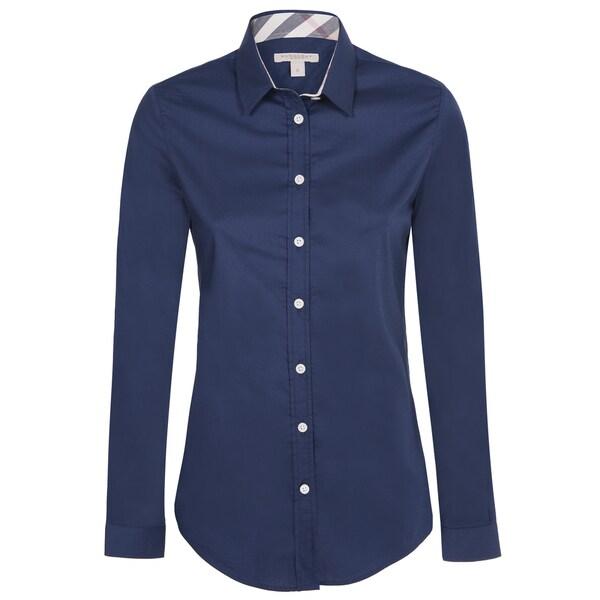 Women's Burberry Navy Dress Shirt