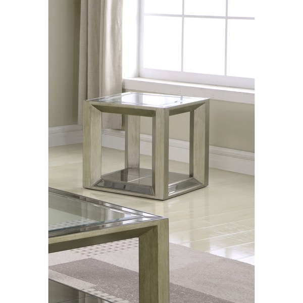 Shop Best Master Furniture Pascual Glass End Table Free Shipping - Pascual coffee table