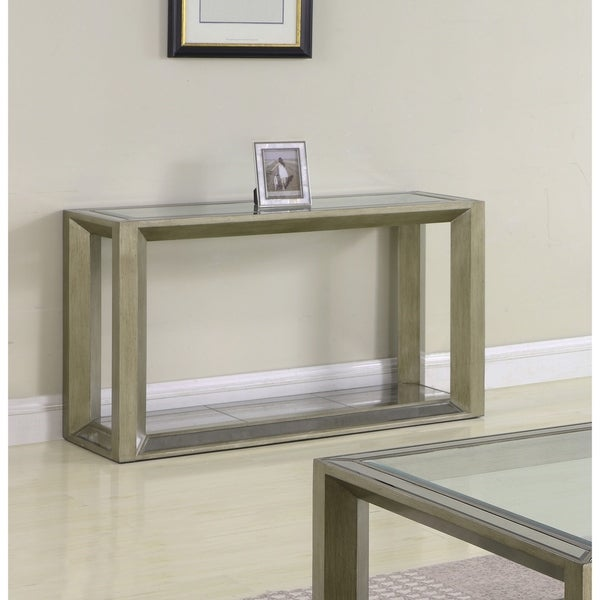 Best Home Furniture Reviews: Shop Best Master Furniture Pascual Glass Sofa Table