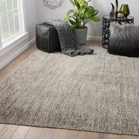 Annica Hand-Knotted Chevron Dark Gray/ Ivory Area Rug (9' X 12')