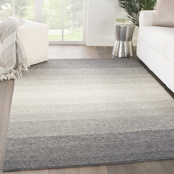 Shop Channel Indoor Outdoor Ombre Gray Beige Area Rug 9