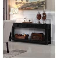 Best Master Furniture Long Antique Black Sofa Table