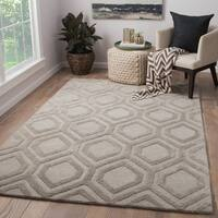 Irvine Handmade Trellis Light Gray Area Rug (9' X 13')