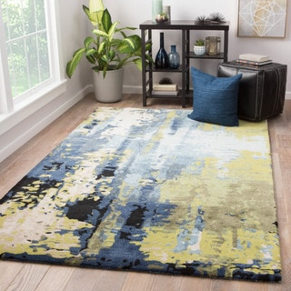 Prose Handmade Abstract Blue/ Green Area Rug (9' X 13') - 9' x 13'