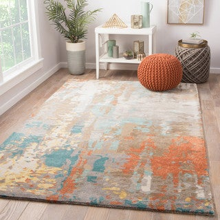 Prose Handmade Abstract Multicolor Area Rug (9' X 13') - multi