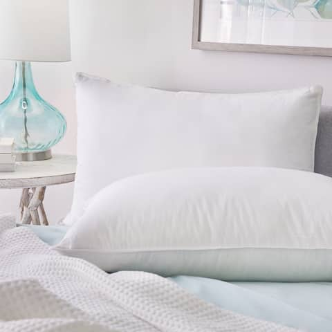 1221 Bedding Hotel Feather and Down Chamber Pillow - White