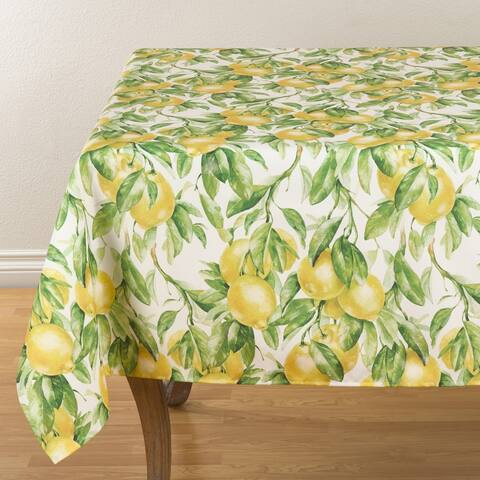 Printed Tablecloth With Lemon Design