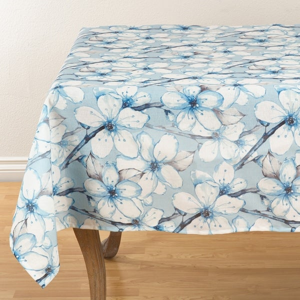 dewy floral watercolor tablecloth 55 x 55 free shipping on