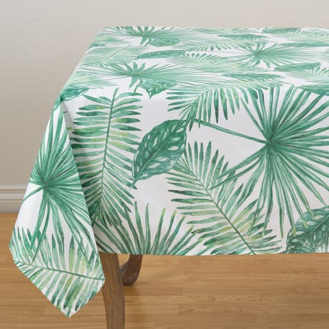 """Tropical Palms Table Topper - 55"""" x 55"""""""