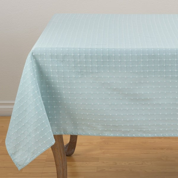 """Woven Stitched Table Topper - 70"""" x 70"""""""