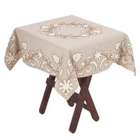 """Beaded Blooms Tablecloth - 40"""" x 40"""""""