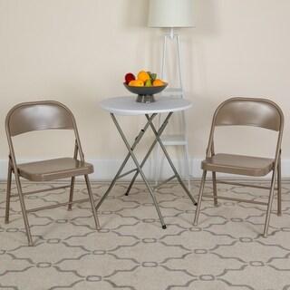 4 Pk. HERCULES Series Double Braced Metal Folding Chair