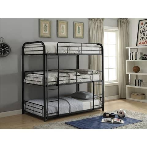 Acme Cairo Full Triple Bunk Bed in Sandy Black