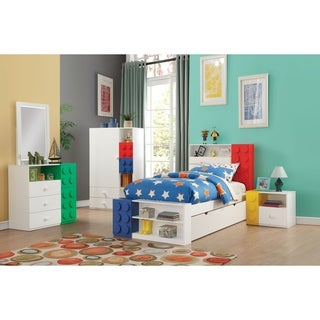 Acme Playground 3-Drawer Dresser in White and Green