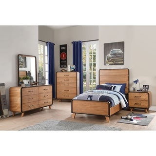 Acme Carla 6-Drawer Dresser in Oak and Black