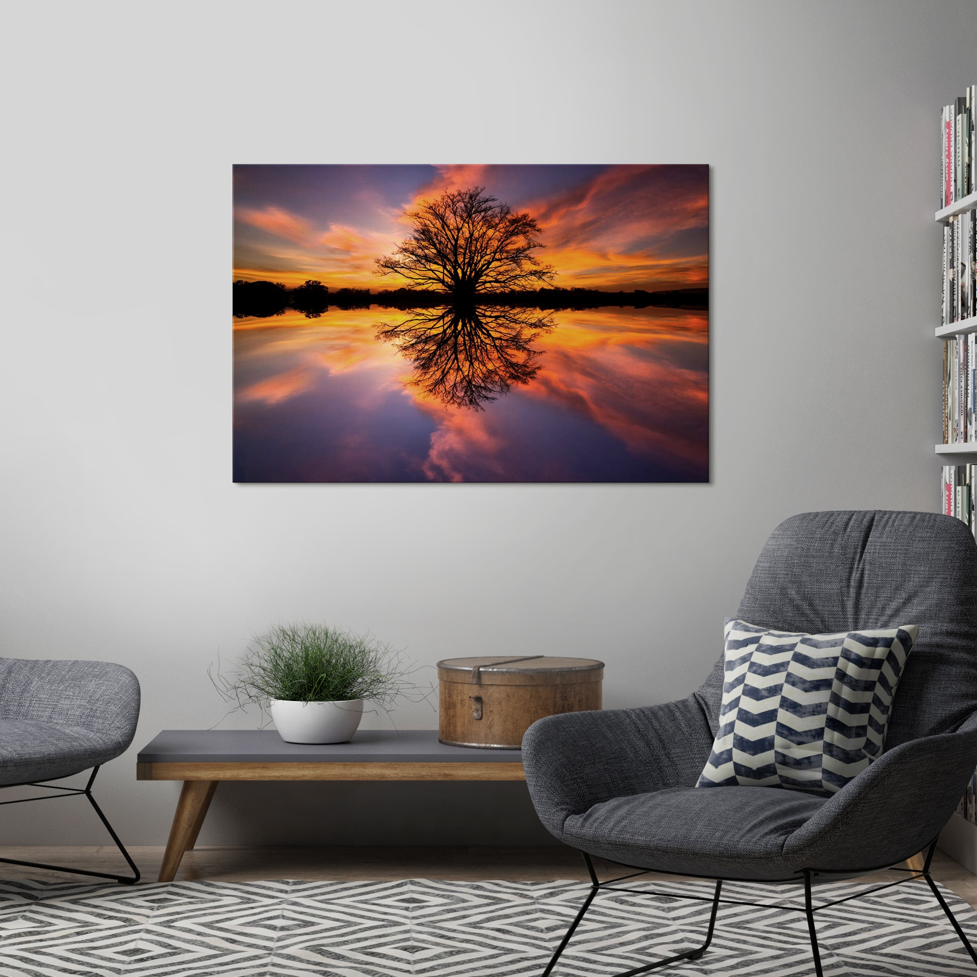 Details About Yosemite Home Decor Balance Tempered Glass Wall Art