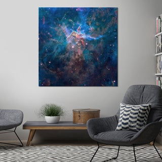 "Yosemite Home Décor ""Mystic Mountain In the Carina Nebula"" Tempered Glass Wall Art"