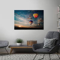 """Yosemite Home Décor """"Endless Sky"""" Tempered Glass Wall Art"""