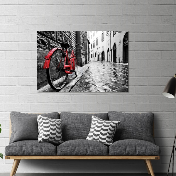 Yosemite Home Décor The Red Bike Tempered Gl