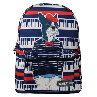 ONE2 15.5 inches Lightweight Travel Polyester Backpack Cool Animals