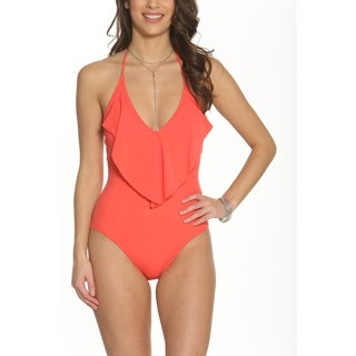 Pixie Pier Ruffle V Plunge One Piece (4 options available)