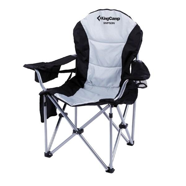 Shop Kingcamp Folding Quad Chair Lumbar Back Support Light