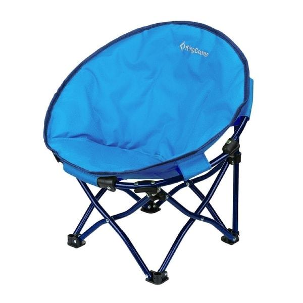 KingCamp Cute Saucer Chair Moon Round Mini Size Ultralight Portable Compact  Folding