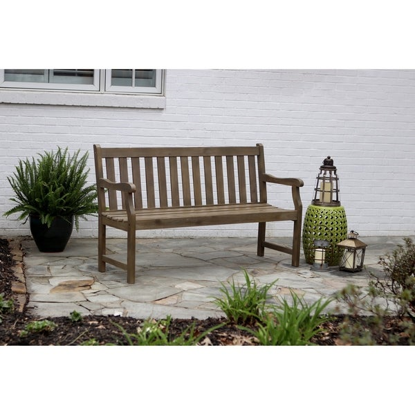 Shop Henley 3 Seat Outdoor Bench Free Shipping Today Overstock