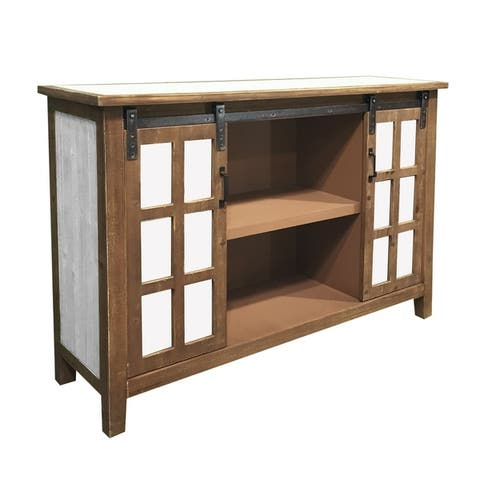 Holland Grace Two Door Wood Slider Cabinet
