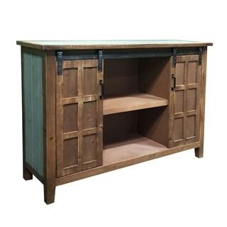 Two Door Wood Slider Cabinet